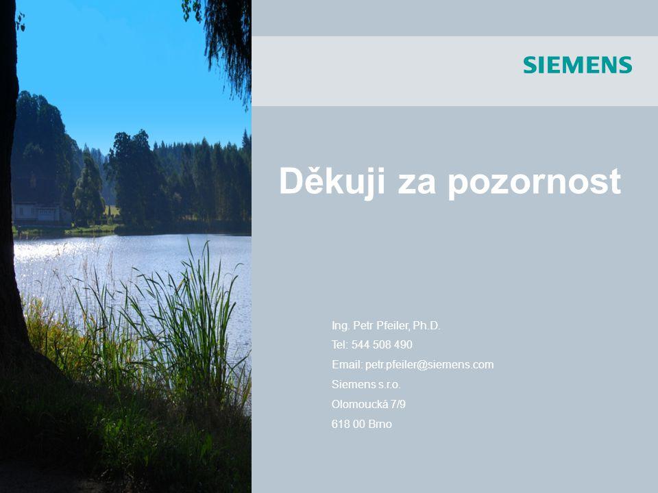 SIMOTION Ing. Petr Pfeiler, Ph.D. Tel: 544 508 490 Email: petr.pfeiler@siemens.com Siemens s.r.o. Olomoucká 7/9 618 00 Brno Děkuji za pozornost