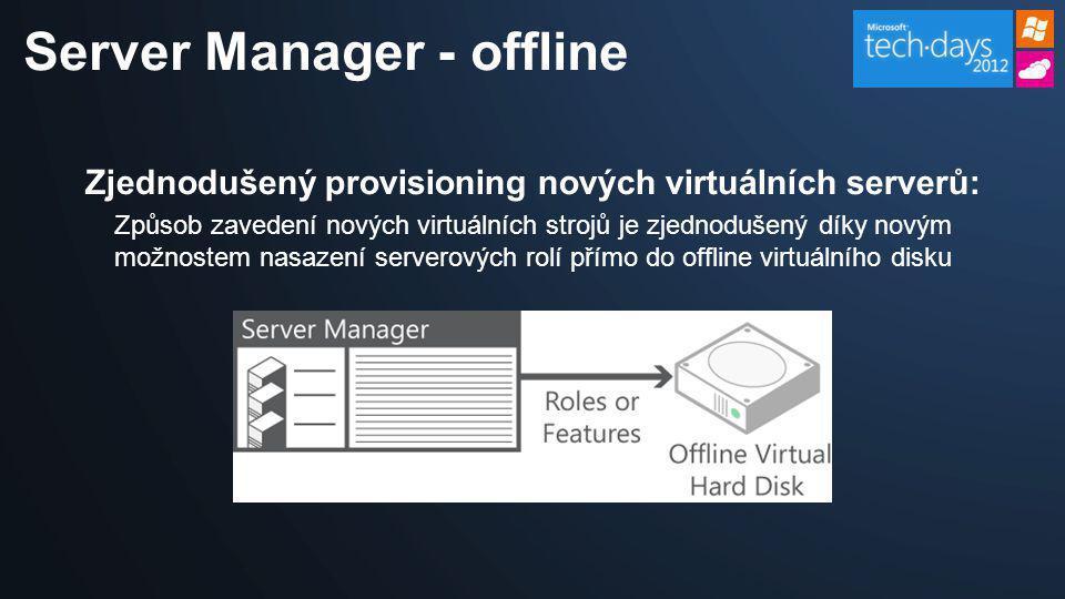 Zjednodušený provisioning nových virtuálních serverů: Způsob zavedení nových virtuálních strojů je zjednodušený díky novým možnostem nasazení serverov