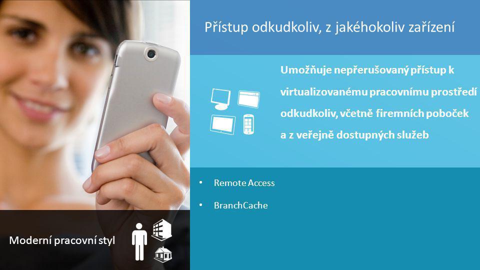 TOP Hotel Praha 7. – 8. 3. 2012 45 Remote Access BranchCache Umožňuje nepřerušovaný přístup k virtualizovanému pracovnímu prostředí odkudkoliv, včetně