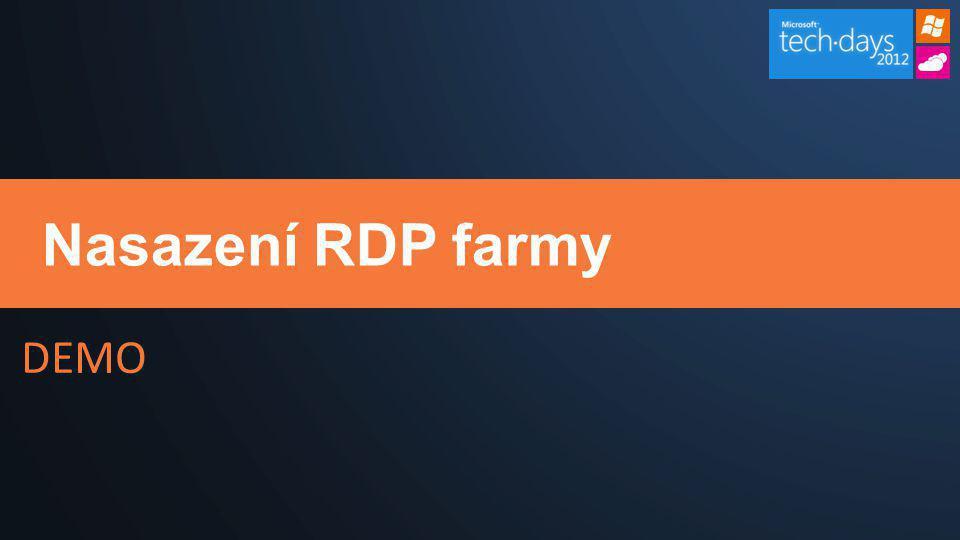DEMO Nasazení RDP farmy