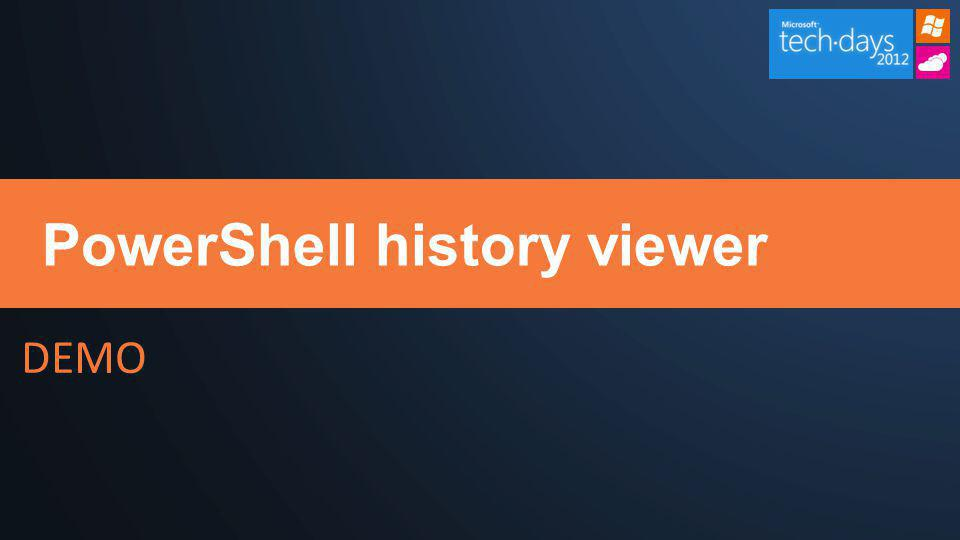 DEMO PowerShell history viewer