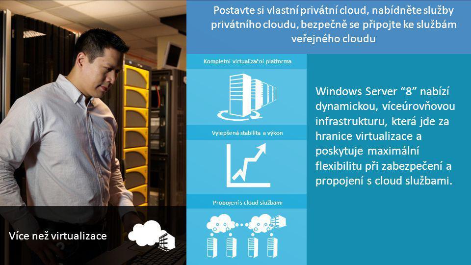 """TOP Hotel Praha 7. – 8. 3. 2012 complet Windows Server """"8"""" nabízí dynamickou, víceúrovňovou infrastrukturu, která jde za hranice virtualizace a poskyt"""