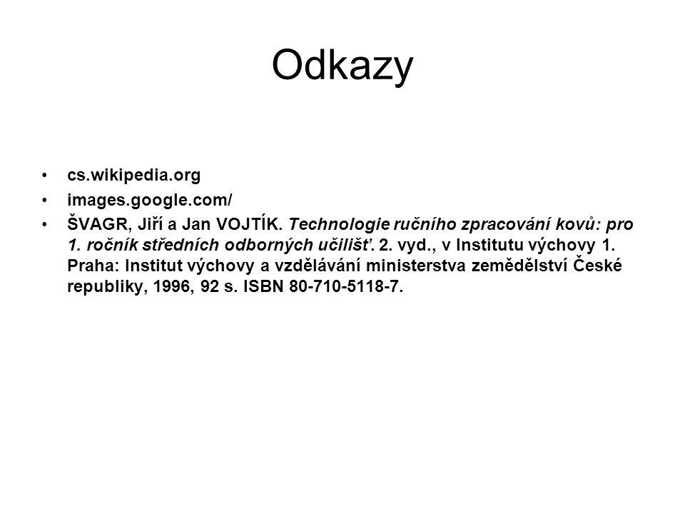 Odkazy cs.wikipedia.org images.google.com/ ŠVAGR, Jiří a Jan VOJTÍK.
