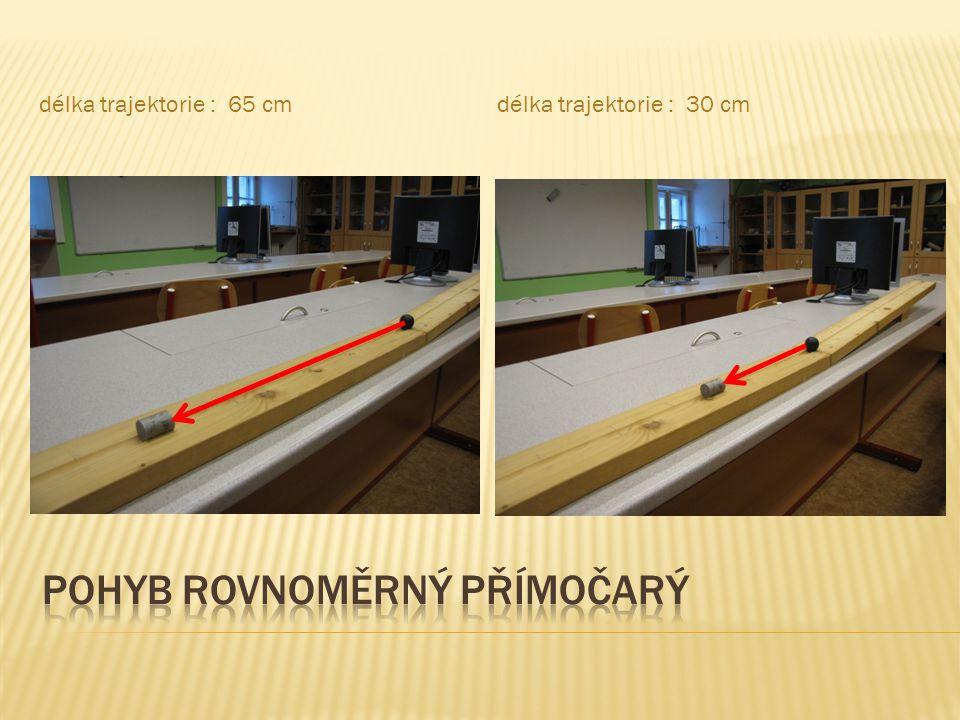 délka trajektorie : 65 cmdélka trajektorie : 30 cm