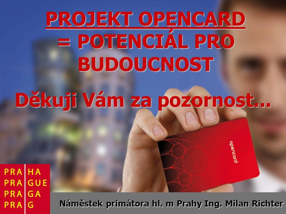 PROJEKT OPENCARD = POTENCIÁL PRO BUDOUCNOST Náměstek primátora hl.