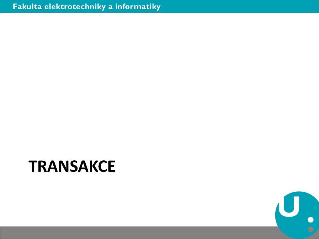 Autonomní transakce Změna v datech mimo transakci – Například zápis do logu Nejedná se o paralelní transakci – Autonomní transakce je k dispozici pouze jedna – Sériový přístup k transakčnímu zpracování – Pouze stejná db session