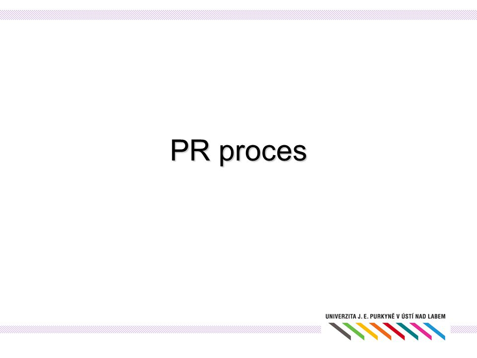 PR proces Postup při tvorbě PR plánu: Analýza Jakou máme pozici na trhu.
