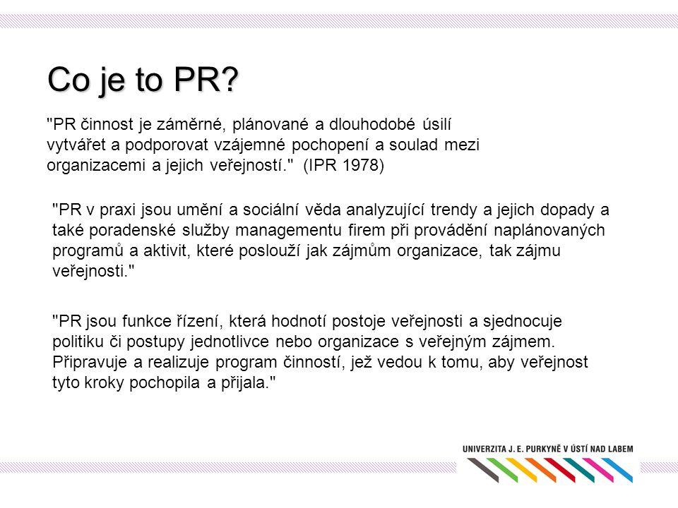Co je to PR?