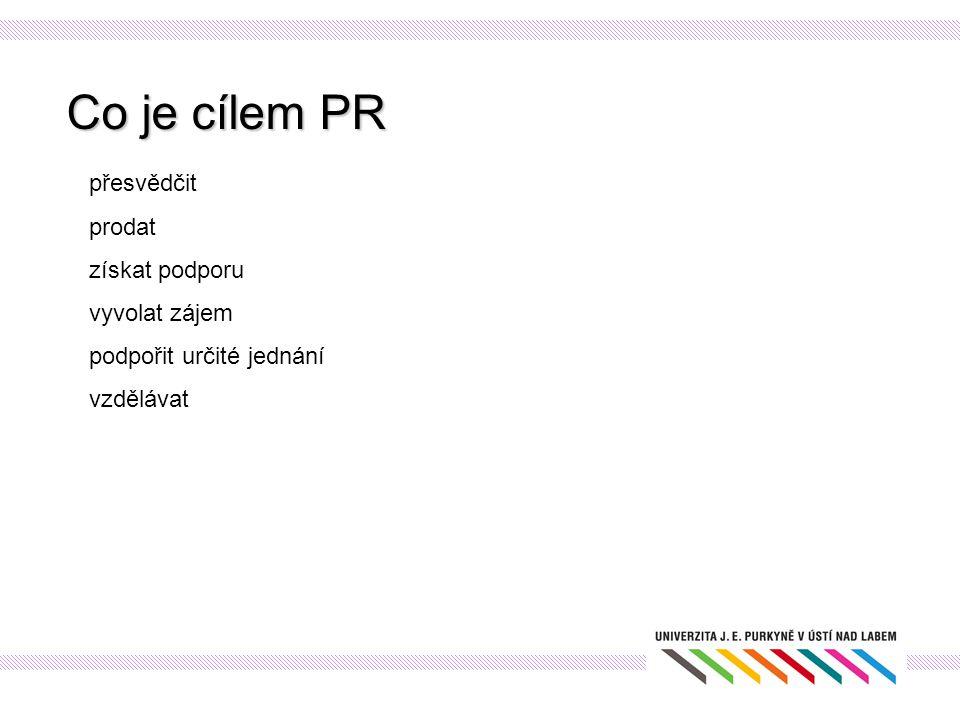 PR proces Postup při tvorbě PR plánu: Nejdůležitější hodnotící kritéria povědomí veřejnosti postoj veřejnosti publicita prodej odezva efektivnost využití rozpočtu
