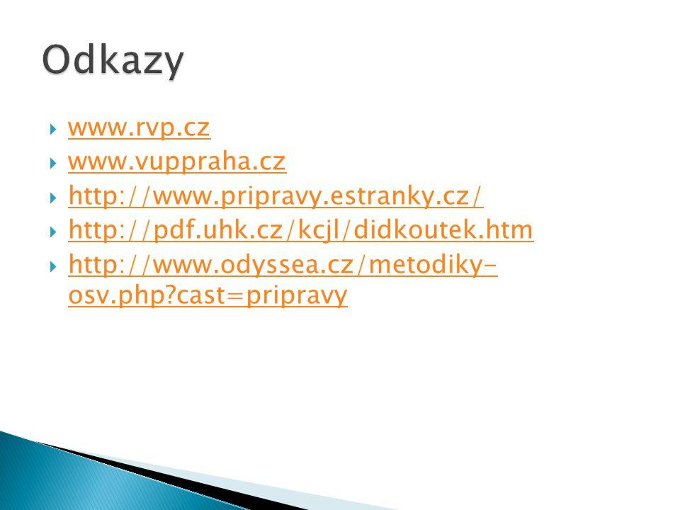  www.rvp.cz www.rvp.cz  www.vuppraha.cz www.vuppraha.cz  http://www.pripravy.estranky.cz/ http://www.pripravy.estranky.cz/  http://pdf.uhk.cz/kcjl