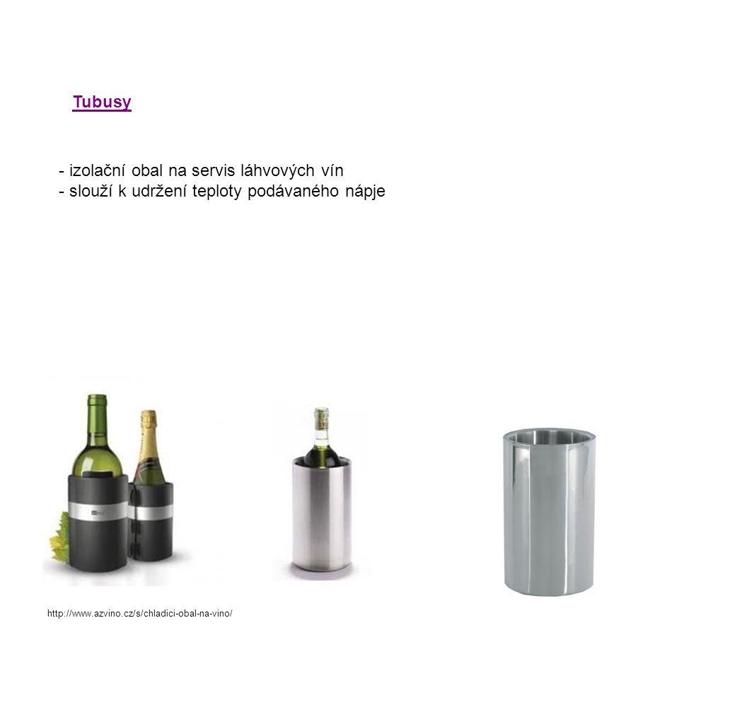 Tubusy - izolační obal na servis láhvových vín - slouží k udržení teploty podávaného nápje http://www.azvino.cz/s/chladici-obal-na-vino/