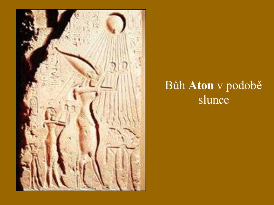 Bůh Aton v podobě slunce