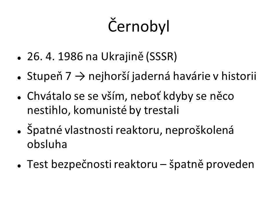 Černobyl 26. 4.