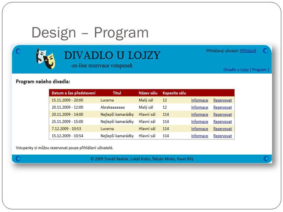 Design – Program