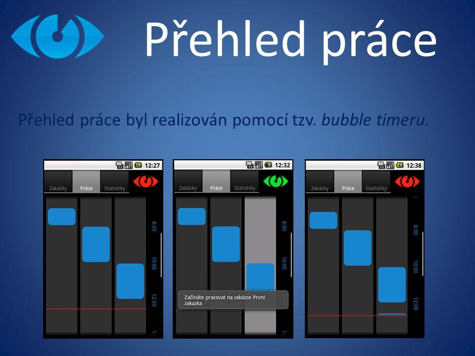 Přehled práce Přehled práce byl realizován pomocí tzv. bubble timeru.