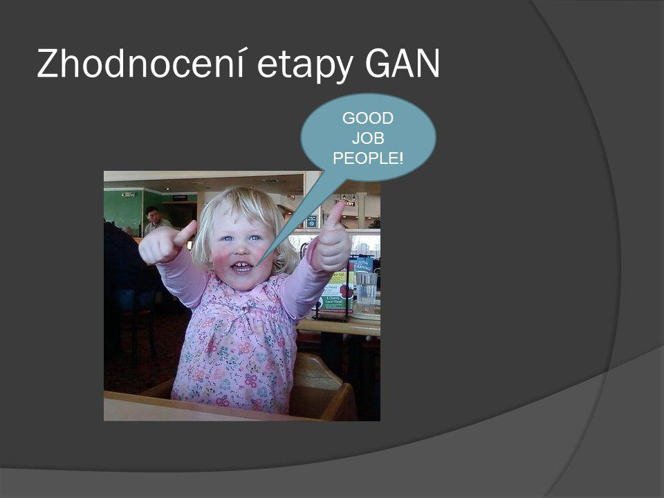 Zhodnocení etapy GAN GOOD JOB PEOPLE!