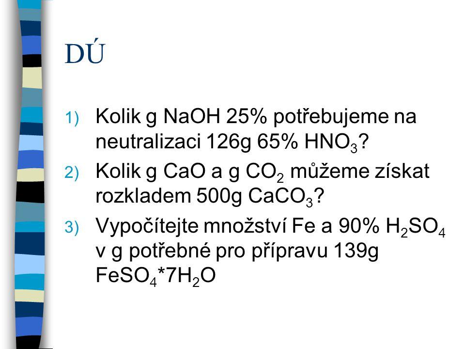 Kolik g 34% HCl potřebujeme na přípravu 149g KCl? HCl + KOH KCl + H 2 O 36,5g 56g 74,5g 18g 36,5g HCl 100% ……………..74,5g KCl xg HCl 100%………………...149g K