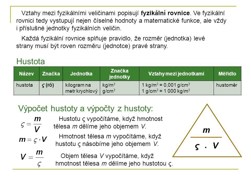 Vztahy mezi fyzikálními veličinami popisují fyzikální rovnice. Ve fyzikální rovnici tedy vystupují nejen číselné hodnoty a matematické funkce, ale vžd