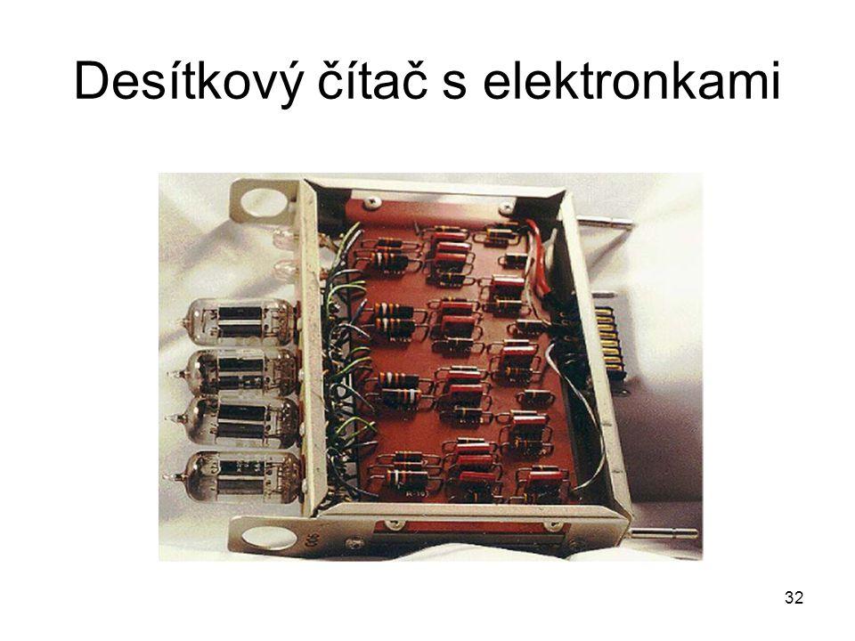 Desítkový čítač s elektronkami 32