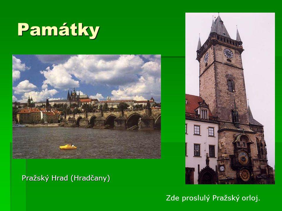 Památky Pražský Hrad (Hradčany) Zde proslulý Pražský orloj.