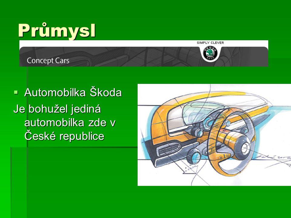 Průmysl  Automobilka Škoda Je bohužel jediná automobilka zde v České republice