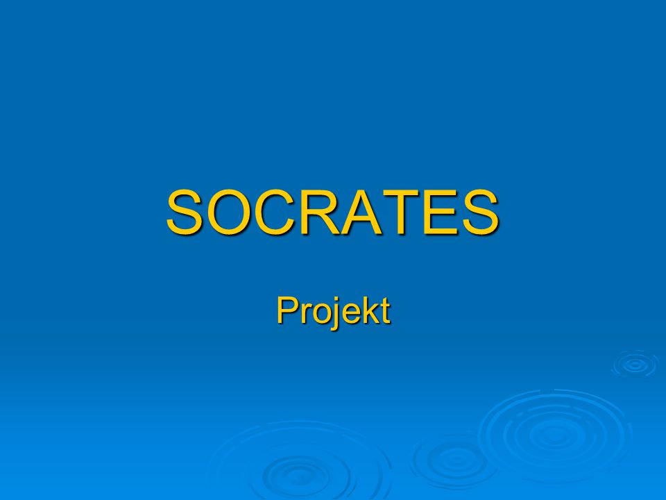 SOCRATES Projekt