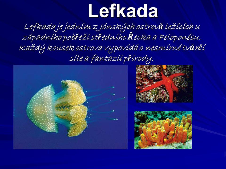 Lefkada Lefkada je jedním z Jónských ostrov ů ležících u západního pob ř eží st ř edního Ř ecka a Peloponésu.