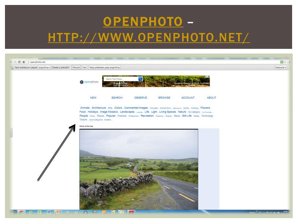OPENPHOTOOPENPHOTO – HTTP://WWW.OPENPHOTO.NET/ HTTP://WWW.OPENPHOTO.NET/