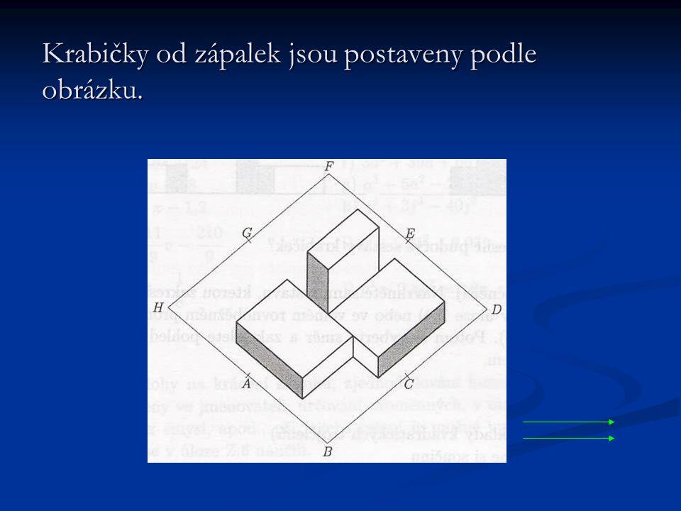 Krabičky od zápalek jsou postaveny podle obrázku.