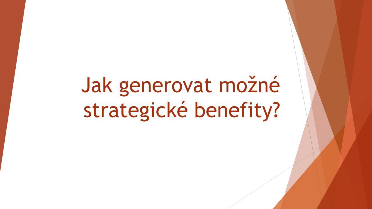 Jak generovat možné strategické benefity?
