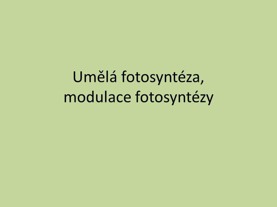 Umělá fotosyntéza, modulace fotosyntézy