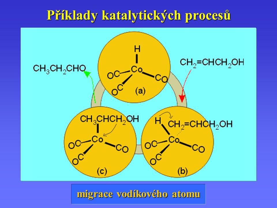 Příklady katalytických procesů migrace vodíkového atomu