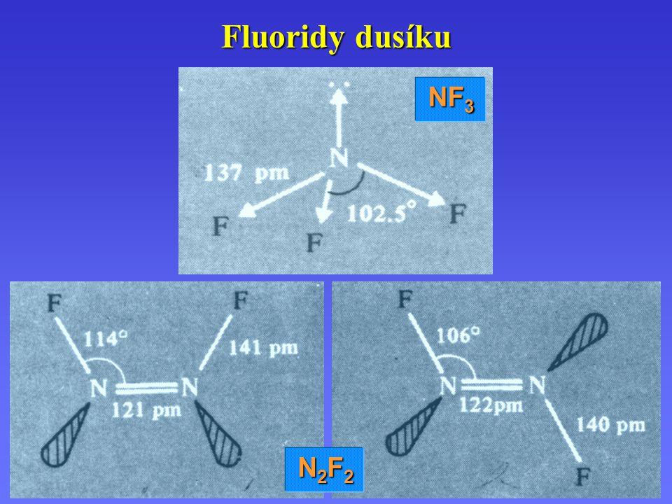 Fluoridy dusíku NF 3 N2F2N2F2N2F2N2F2