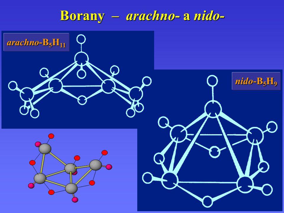 Borany – arachno- a nido- arachno -B 5 H 11 nido-B 5 H 9