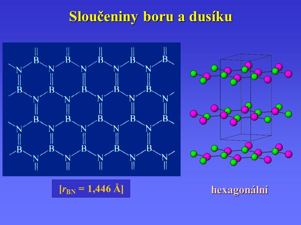 [r BN = 1,446 Å] hexagonální