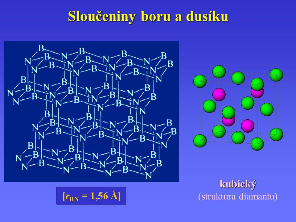 [r BN = 1,56 Å] kubický (struktura diamantu)