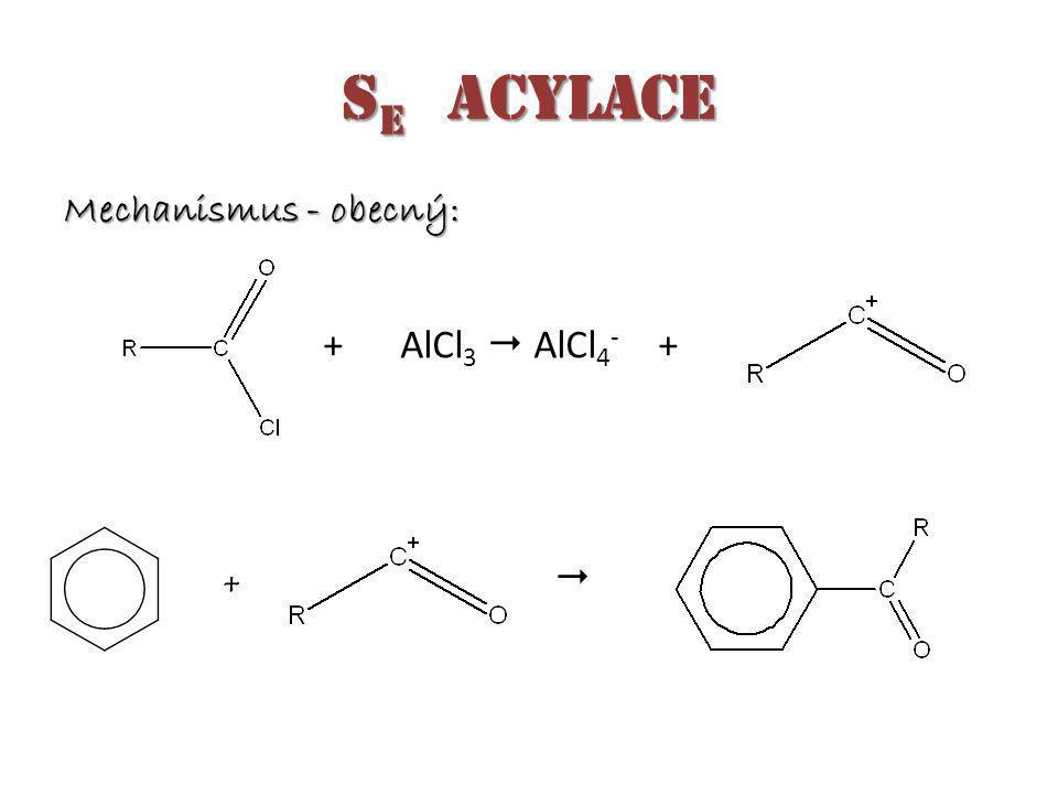 Mechanismus - obecný: + AlCl 3  AlCl 4 - +  +