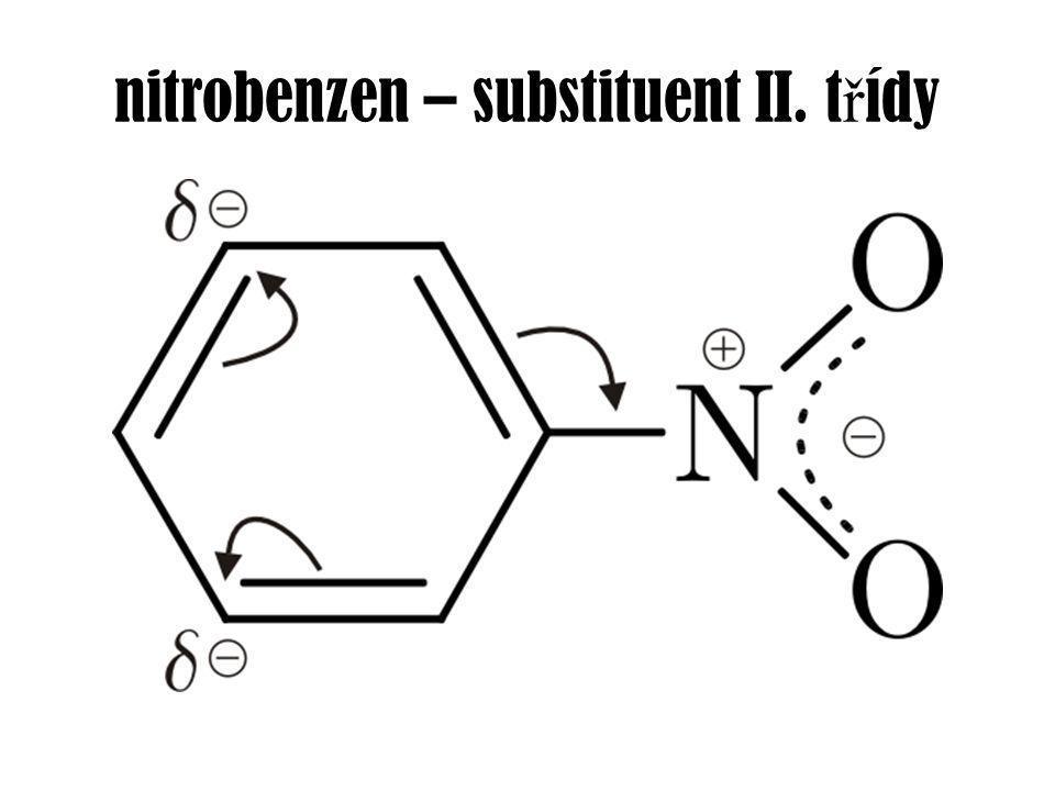 nitrobenzen – substituent II. t ř ídy