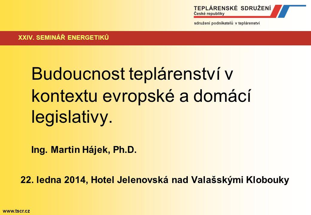 sdružení podnikatelů v teplárenství www.tscr.cz XXIV.
