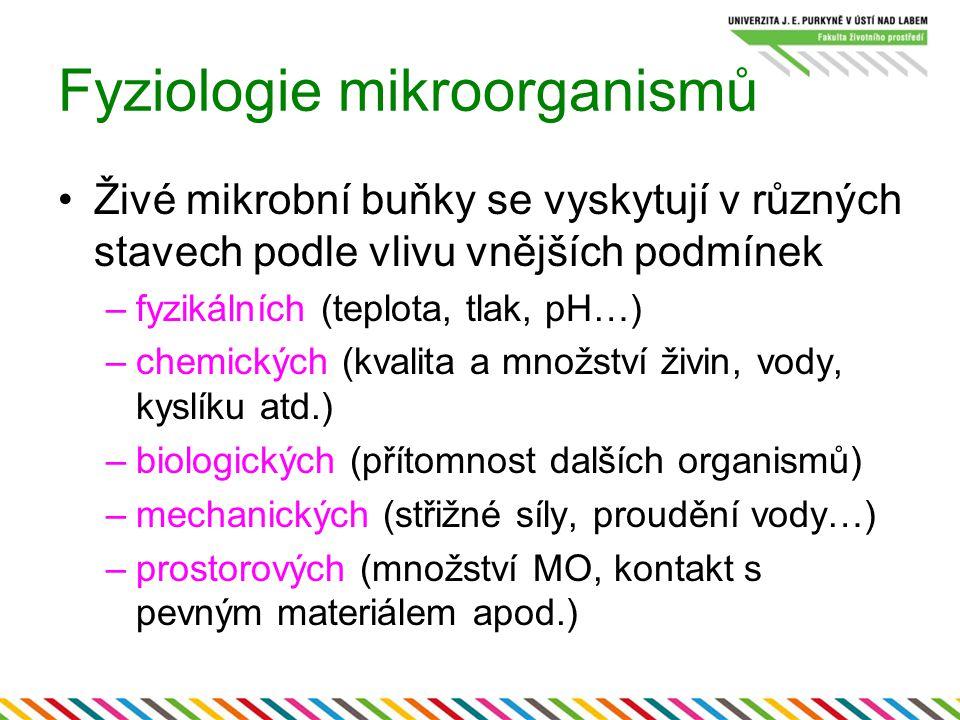 Neionogenní Horší smáčivost Malý vliv na membrány – malý biocidní účinek Používájí se pro urychlení růstu pomalurostoucích mikroorganismů