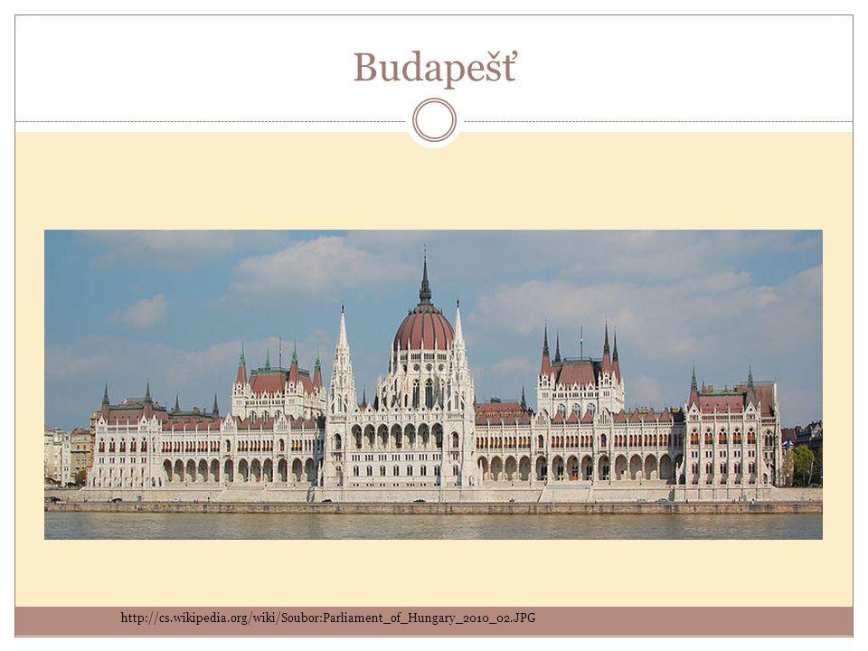 Budapešť http://cs.wikipedia.org/wiki/Soubor:Parliament_of_Hungary_2010_02.JPG