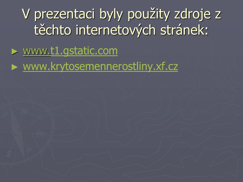 V prezentaci byly použity zdroje z těchto internetových stránek: ► www. ► www.t1.gstatic.comwww. t1.gstatic.com ► ► www.krytosemennerostliny.xf.czwww.