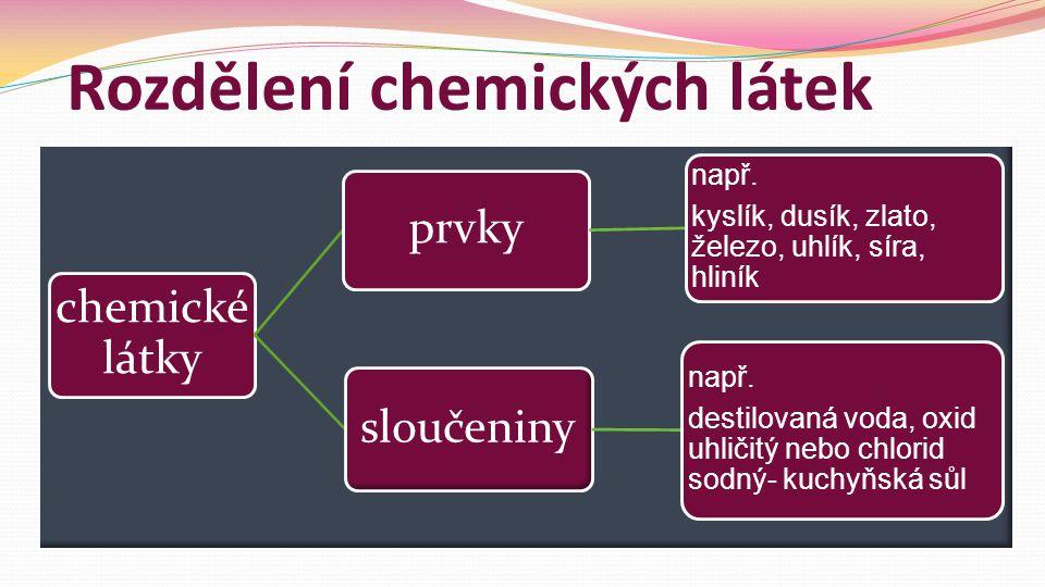 Rozdělení chemických látek
