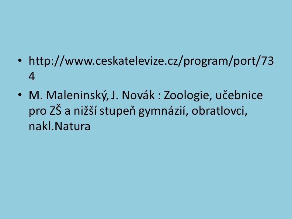 http://www.ceskatelevize.cz/program/port/73 4 M. Maleninský, J.