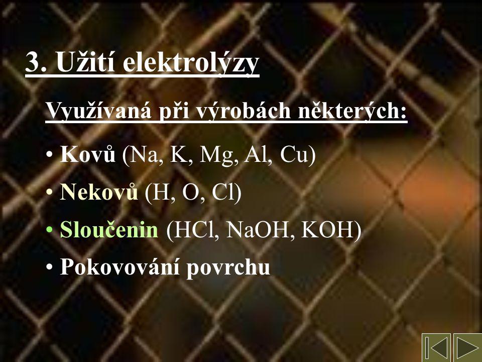 CuCl 2 Cu +II Cl -I Cl 2 Cu Působením proudu dojde k rozdělení CuCl 2 na ionty