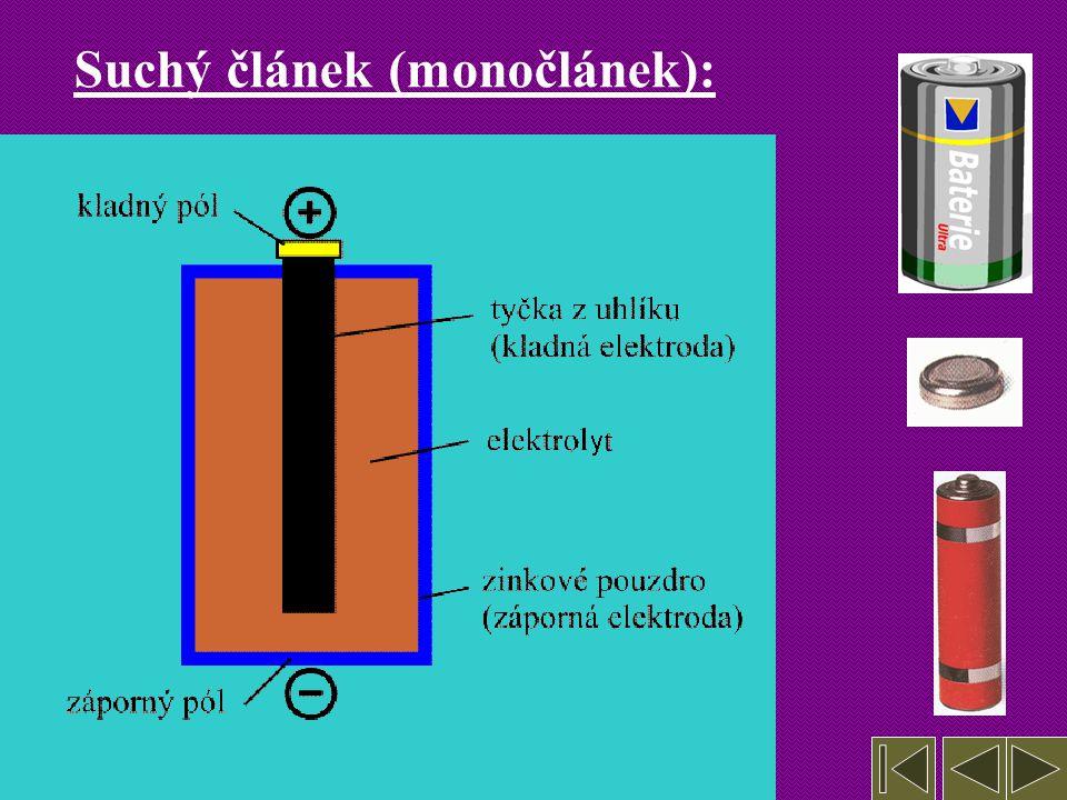 5. Galvanické články, akumulátor = zařízení, ze kterých je možno během redoxních reakcí přímo získávat elektrickou energii Mají též název elektrochemi