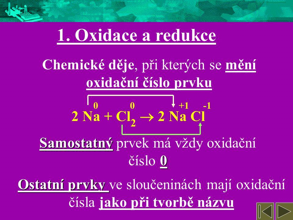 1. Oxidace a redukce 2. Elektrolýza 4. Redoxní vlastnosti kovů a nekovů 5. Galvanické články, akumulátor 6. Koroze 7. Konec 3. Užití elektrolýzy