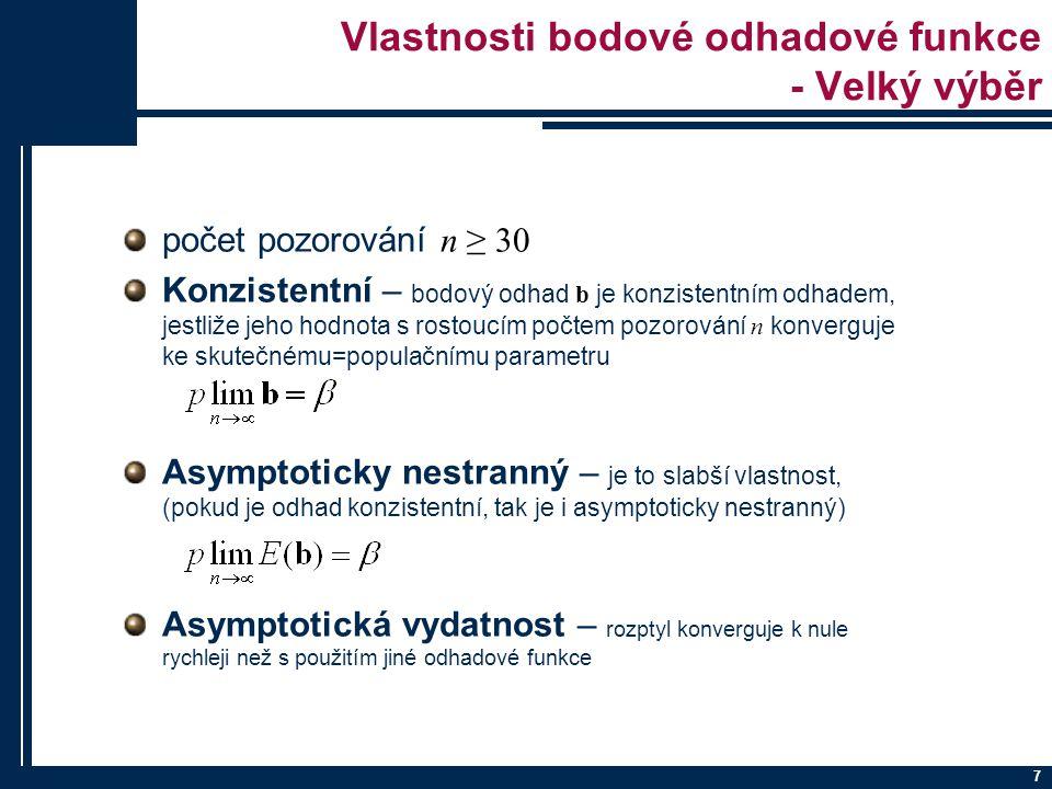 8 Asymptotická nestrannost