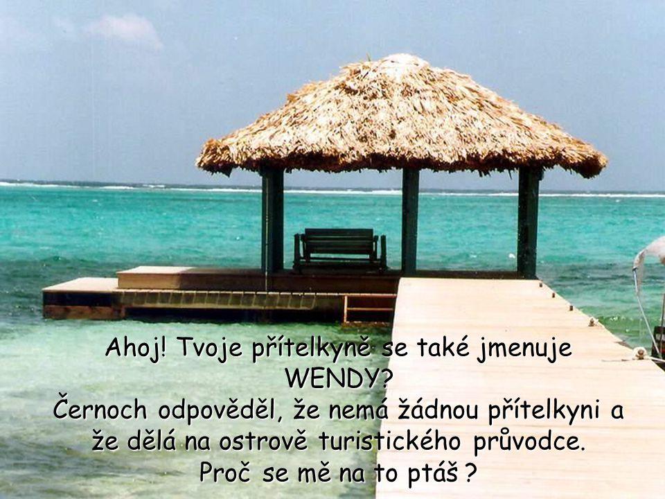 Ahoj. Tvoje přítelkyně se také jmenuje WENDY.