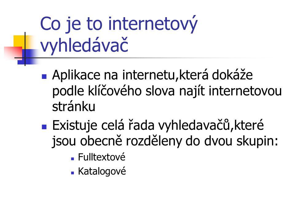 www.seznam.cz Školení internetového vyhledavače